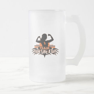 Team Fight Like a Girl - Multiple Sclerosis 16 Oz Frosted Glass Beer Mug