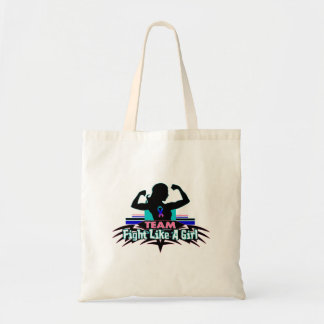 Team Fight Like a Girl - Thyroid Cancer Budget Tote Bag