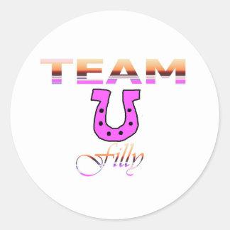Team Filly Round Stickers
