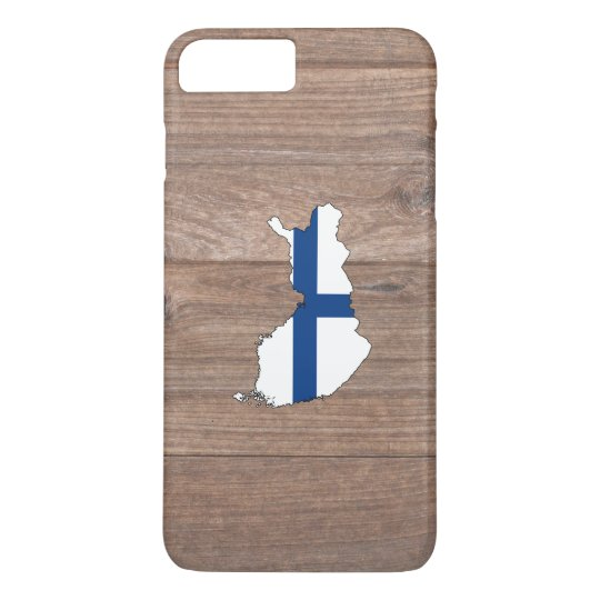 Team Finland Flag Map on Wood iPhone 7