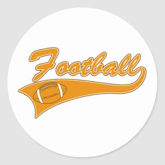 Team Football Gold T-shirts and Gifts Round Stickers