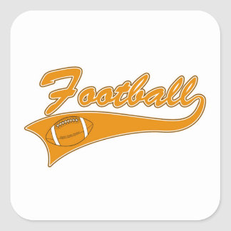 Team Football Gold T-shirts and Gifts Square Sticker