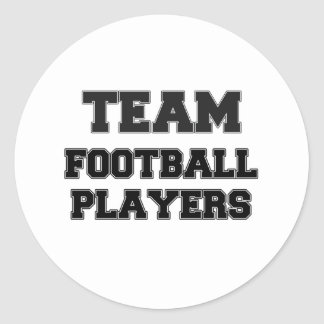 Team Football Players Round Stickers