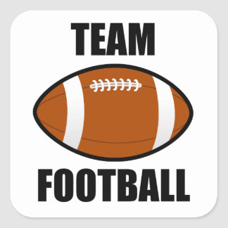 Team Football Square Sticker