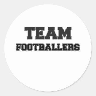 Team Footballers Round Stickers
