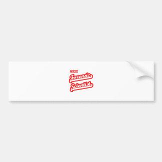 Team Forensic Scientist Bumper Stickers