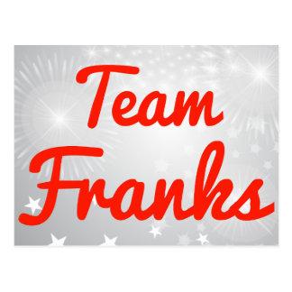 Team Franks Postcard