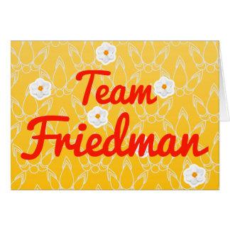 Team Friedman Card