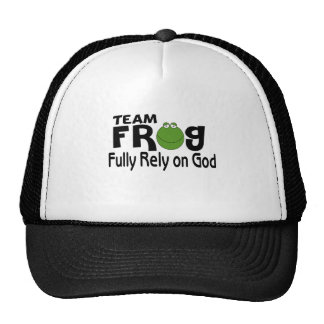 Team Frog (Fully Rely On God) Hat