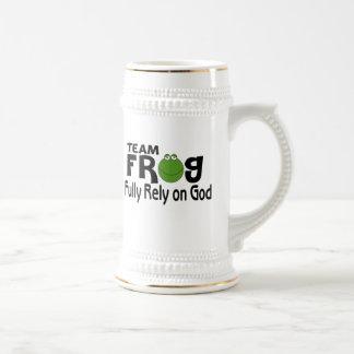 Team Frog (Fully Rely On God) Coffee Mug