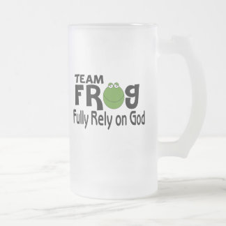 Team Frog (Fully Rely On God) Mugs