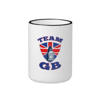 Team GB Big Ben British Flag Shield Mugs