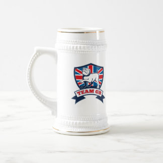 Team GB English bulldog team shield and scroll Mugs