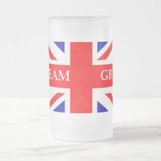 TEAM GB FROSTED GLASS MUG