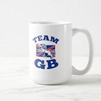 Team GB Lion sitting GB British union jack flag Coffee Mug
