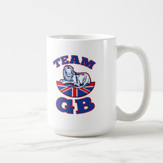 Team GB Lion sitting GB British union jack flag Mug