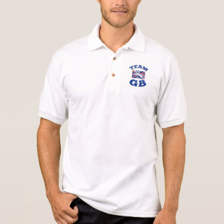 Team GB Lion sitting GB British union jack flag Polo Shirt