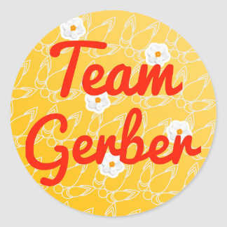 Team Gerber Round Sticker