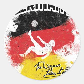 team germany round sticker