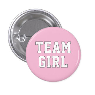 Team Girl | Baby Gender Reveal Party Buttons