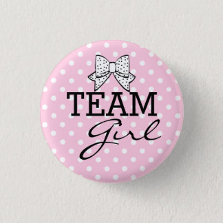 Team Girl-Baby Shower 3 Cm Round Badge