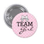 Team Girl-Baby Shower Badges