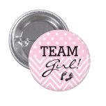 Team Girl Baby Shower Pink 3 Cm Round Badge