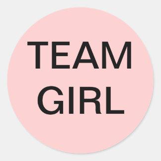 Team Girl Baby Shower Stickers