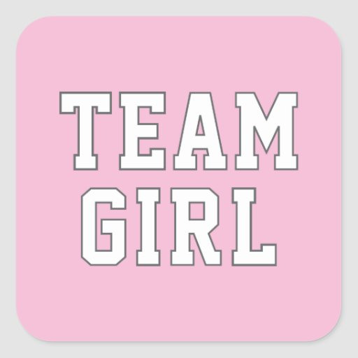 Team Girl   Gender Reveal Party Stickers