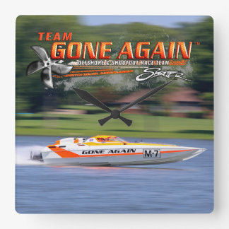 Team GONE AGAIN 32 Skater - Square Wall Clock