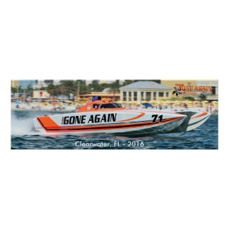 Team GONE AGAIN 388 Skater - Clearwater 2016 Poster