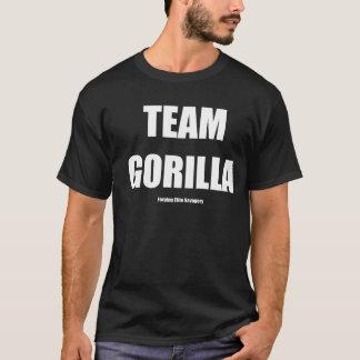 TEAM GORILLA WHITE TEXT T-Shirt