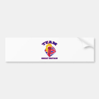 team great britain gb hand hold flaming torch brit bumper stickers