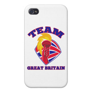 team great britain gb hand hold flaming torch brit covers for iPhone 4