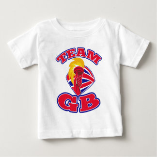 team great britain gb hand hold flaming torch tshirt