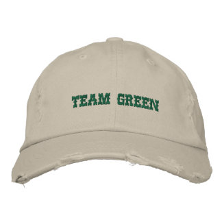 TEAM GREEN EMBROIDERED CAP