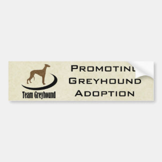Team Greyhound Customizable Bumper Sticker