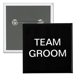 Team Groom Bachelor Party 15 Cm Square Badge