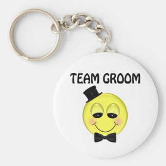 Team Groom Basic Round Button Key Ring