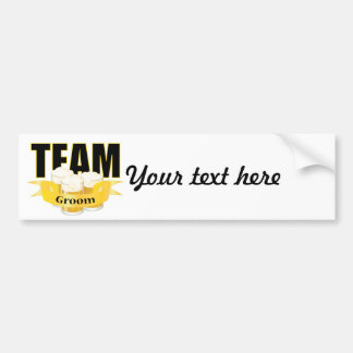 Team Groom - Beer Bumper Sticker