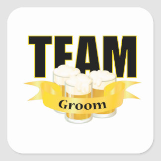 Team Groom - Beer Square Sticker