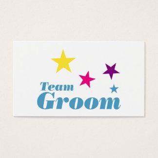 Team groom business card