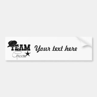 Team Groom - cowboy Bumper Sticker