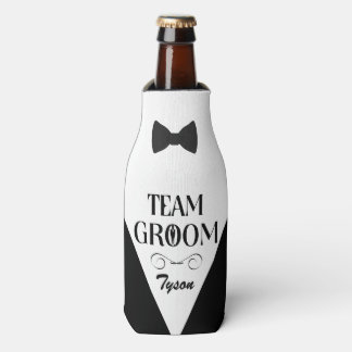 Team Groom - Creative Gifts for Groomsmen Bottle Cooler