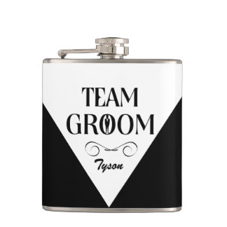 Team Groom - Custom Groomsmen Flask