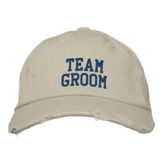 Team Groom Embroidered Ball Cap Embroidered Hats