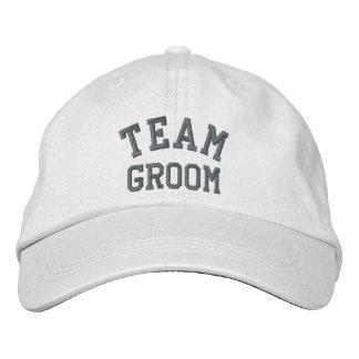 Team Groom Embroidered Cap