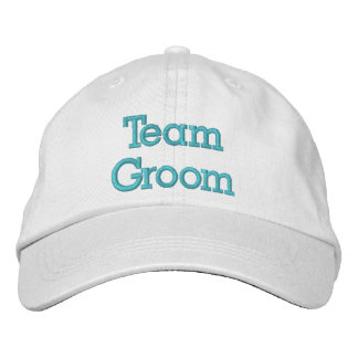 Team Groom Embroidered Hat