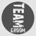 Team Groom Extra Large Grunge Text Sticker