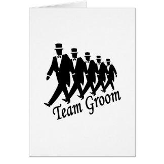 Team Groom Greeting Card
